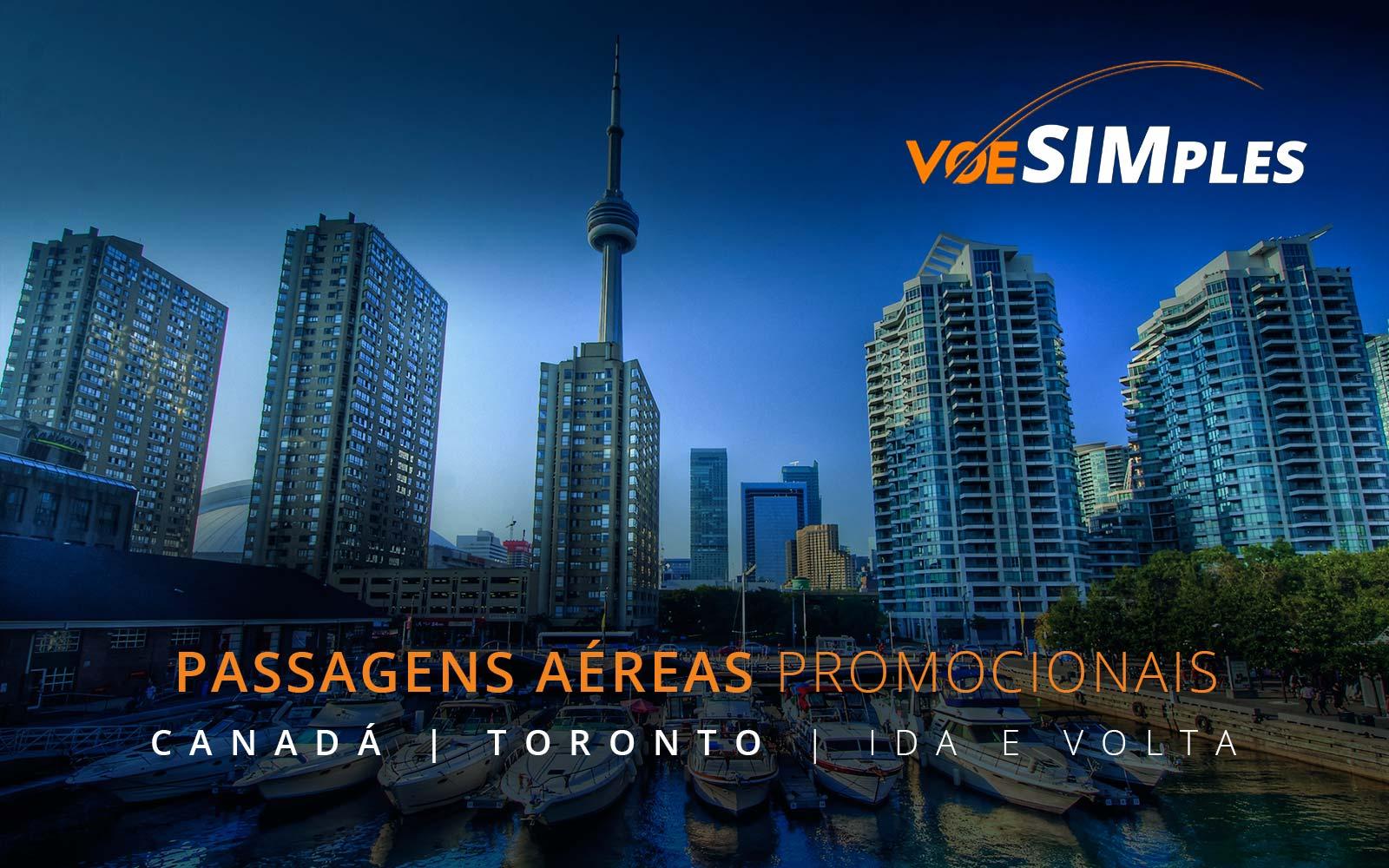Passagens aéreas promocionais para Toronto no Canadá