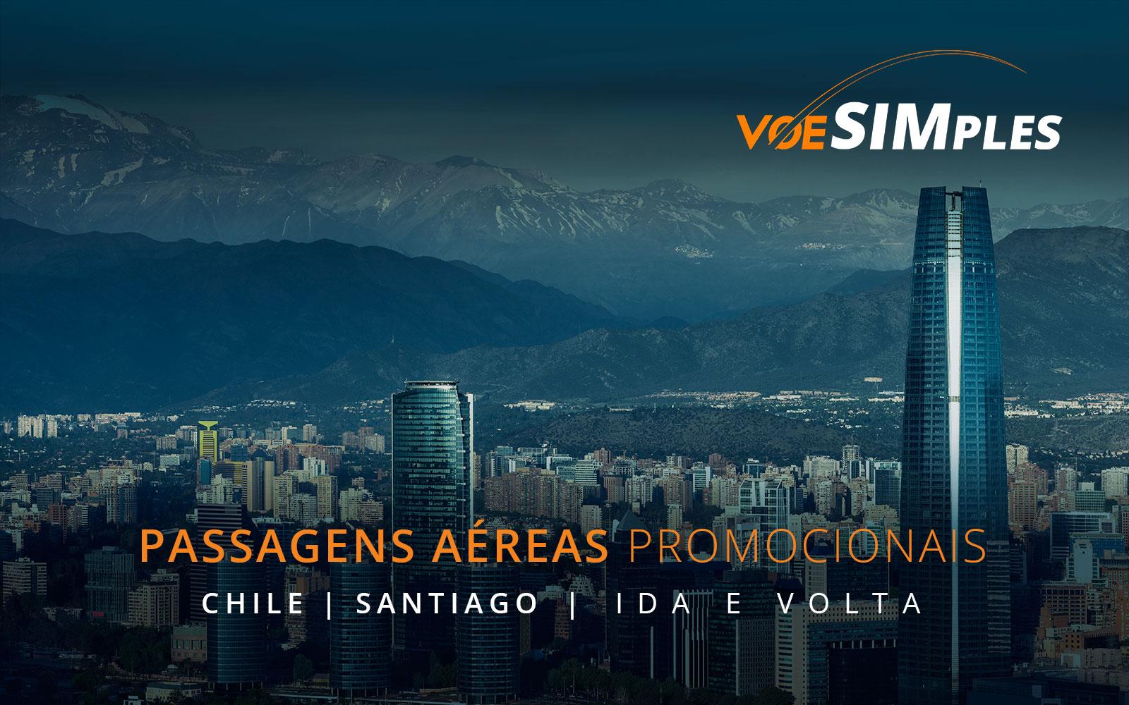 Passagens aéreas promocionais para Santiago do Chile