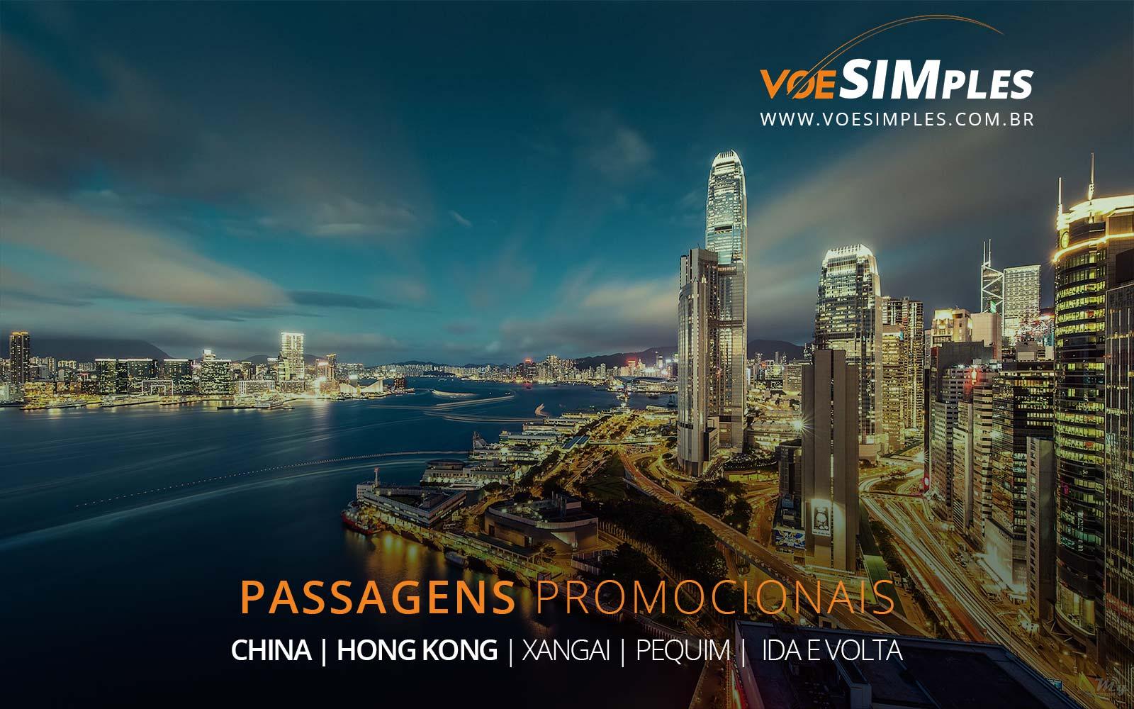 Promoção de passagens aéreas para Hong Kong, Xangai e Pequim na China