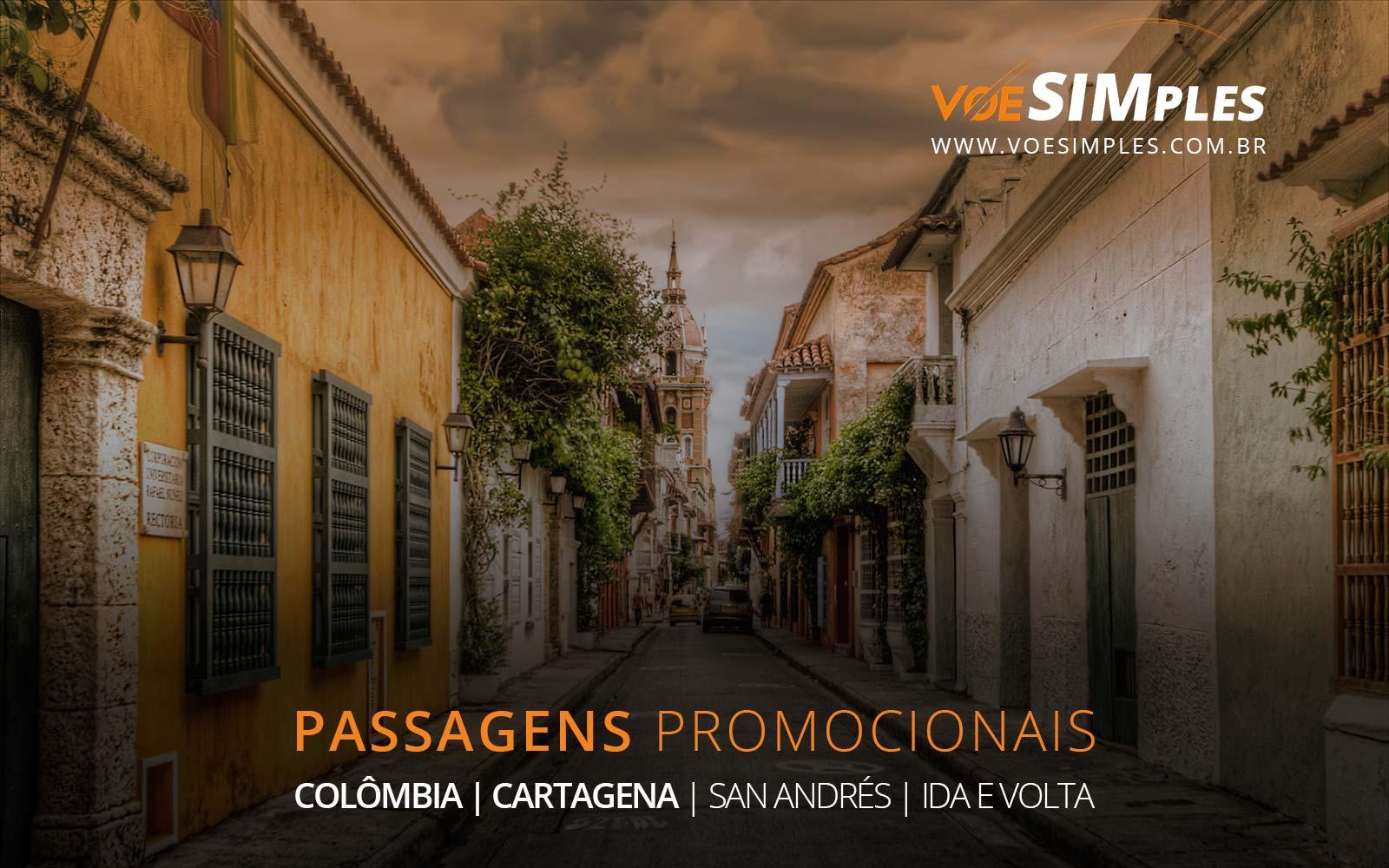Passagens aéreas promocionais para San Andrés e Cartagena no Caribe Colombiano