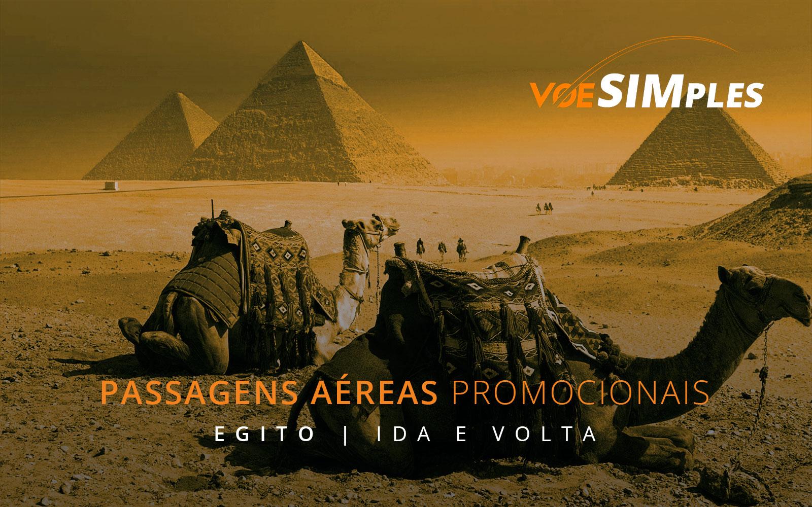 Passagens aéreas promocionais para o Egito