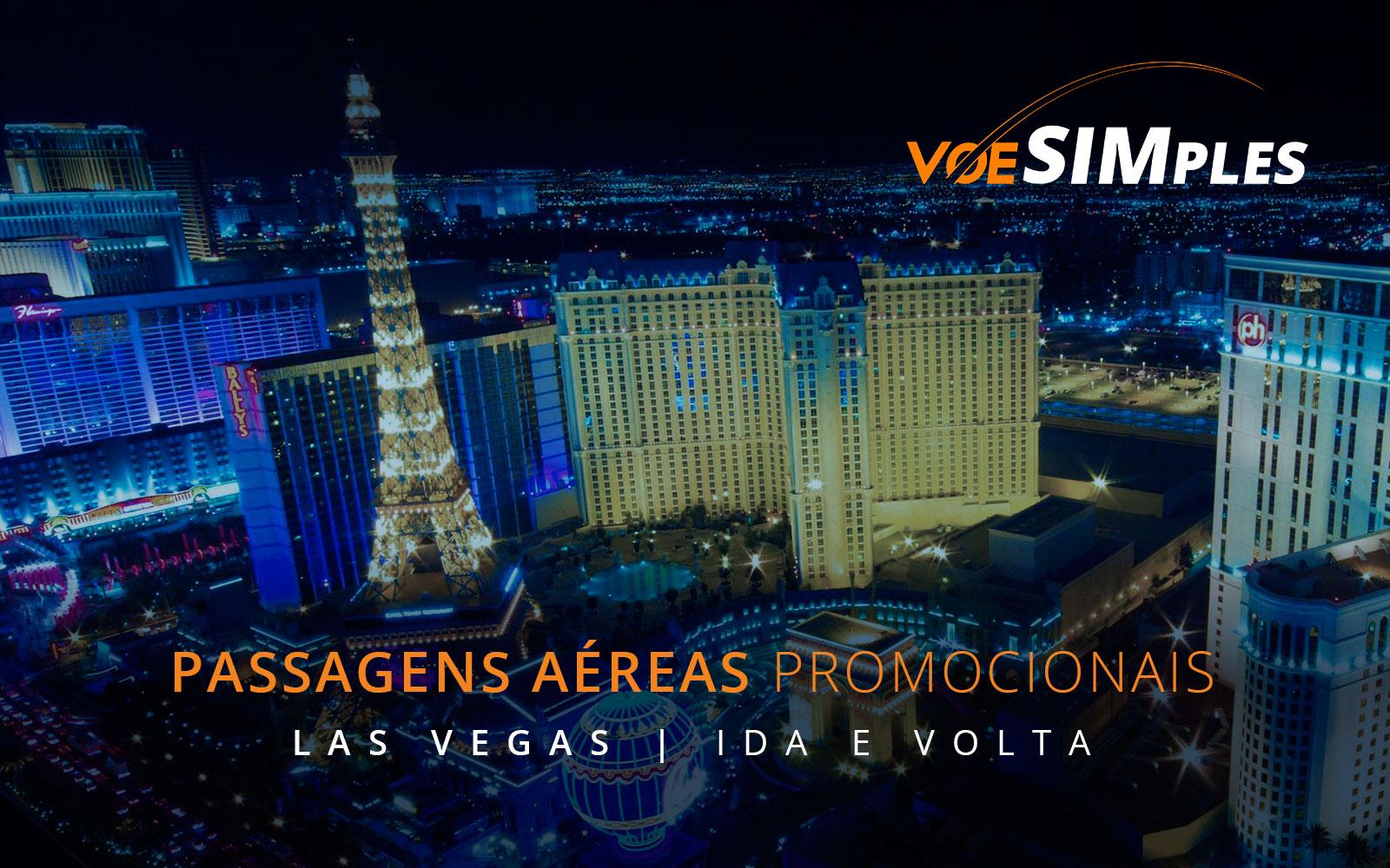 Passagens aéreas promocionais para Las Vegas nos Estados Unidos