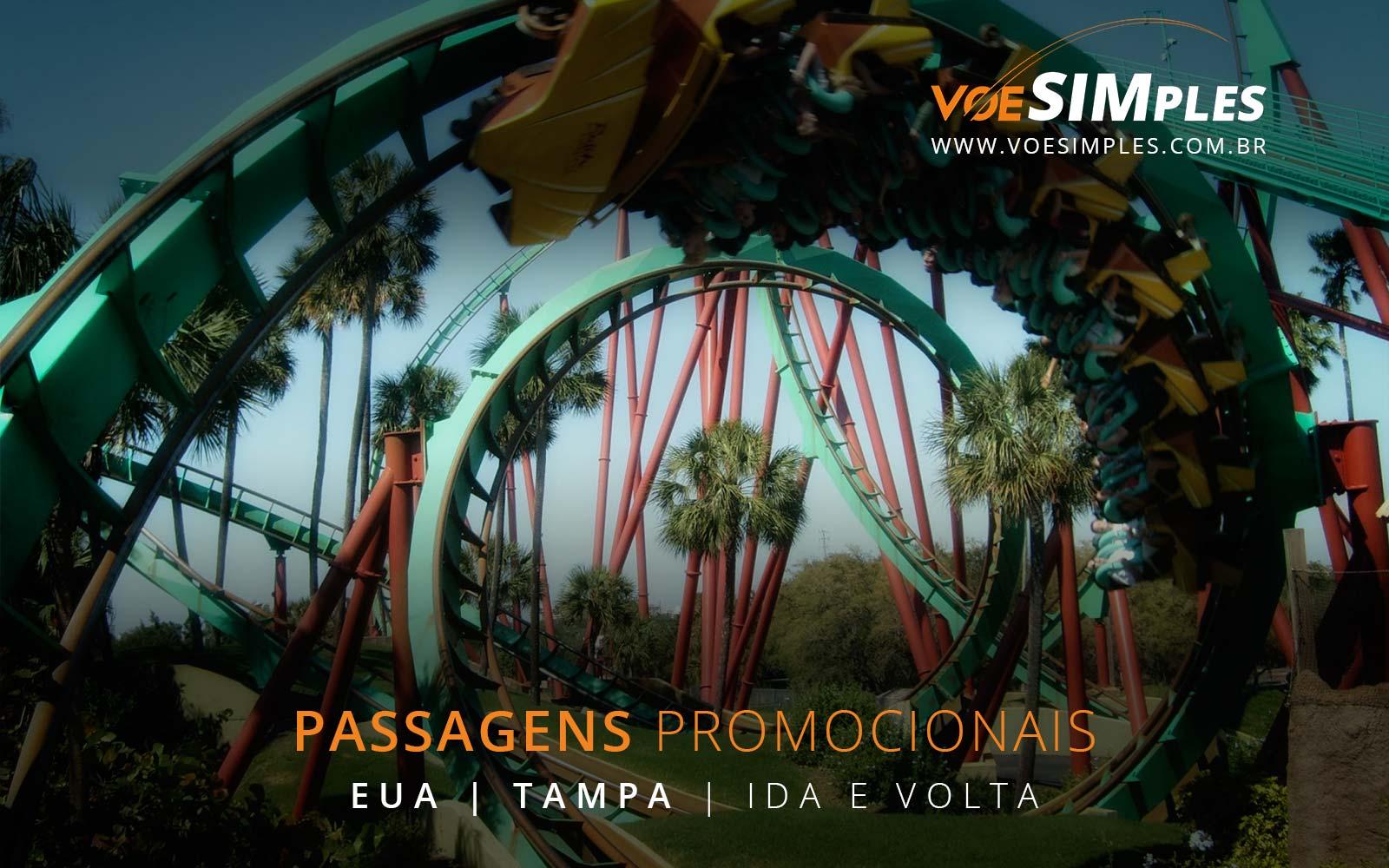 Voos promocionais para Tampa, Orlando nos Estados Unidos