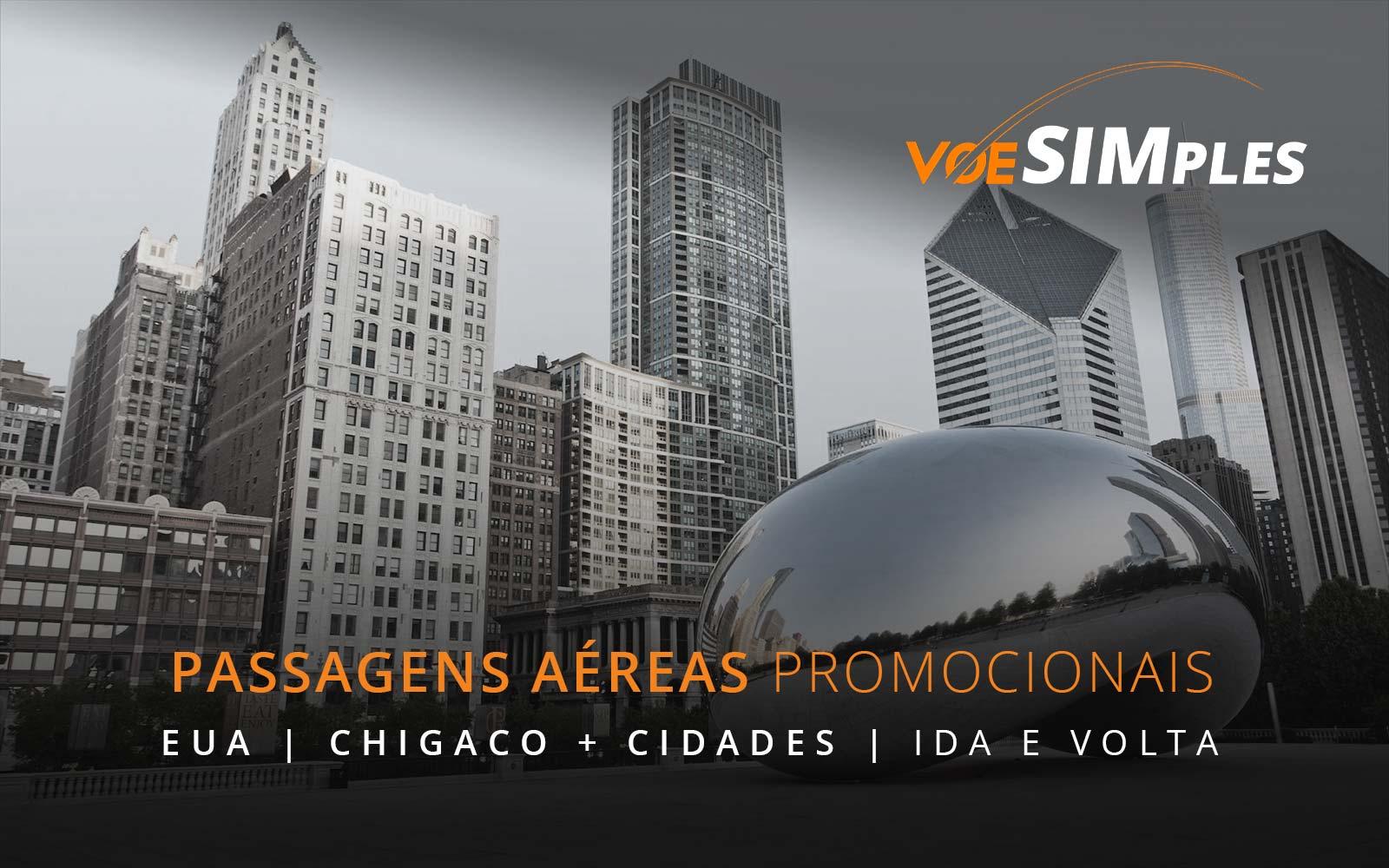 Passagens aéreas promocionais para Los Angeles, São Francisco, Chicago e Boston nos Estados Unidos