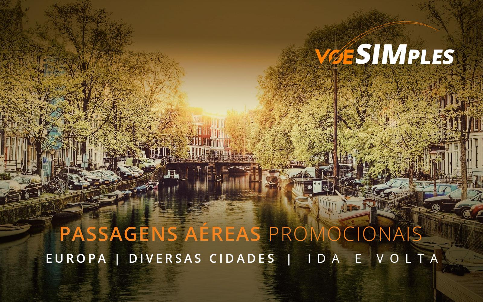 Passagens aéreas promocionais para Londres, Paris e Barcelona na Europa