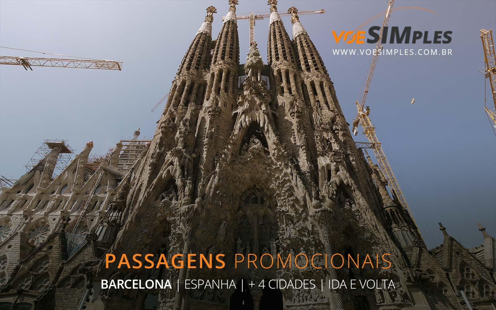 Passagens aéreas promocionais para Barcelona, Roma, Londres, Veneza e Milão na Europa