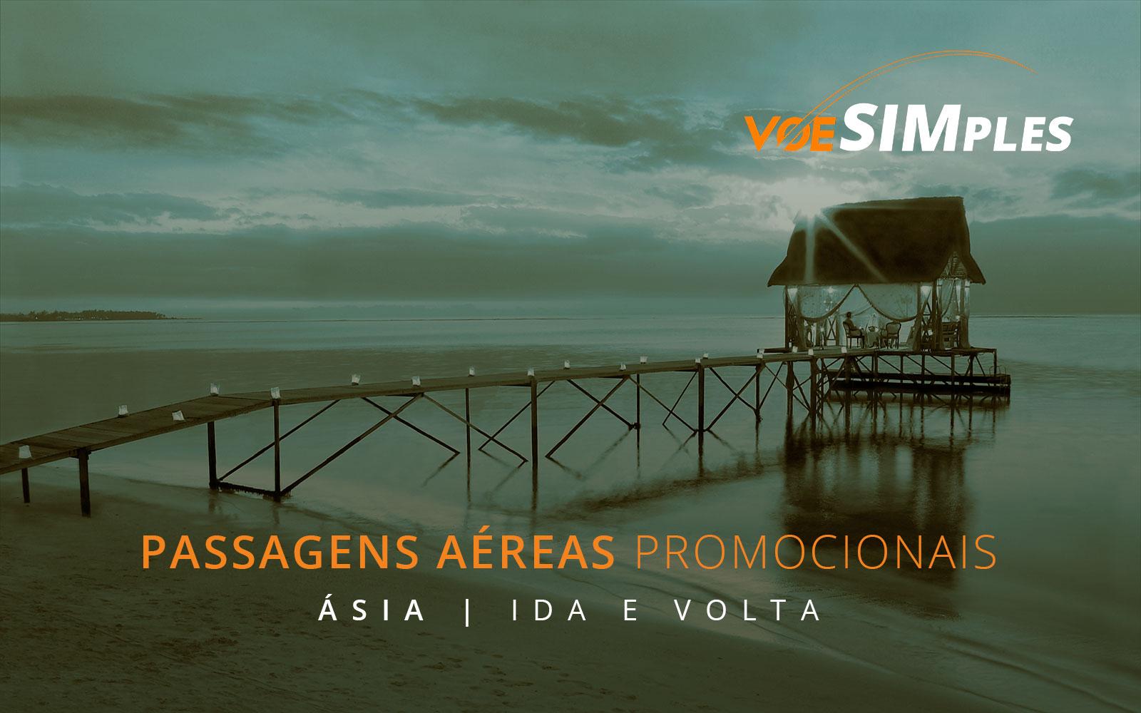 Passagens aéreas promocionais para a Ásia