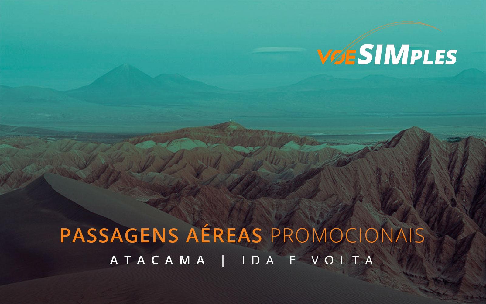 Passagens aéreas promocionais para o Atacama