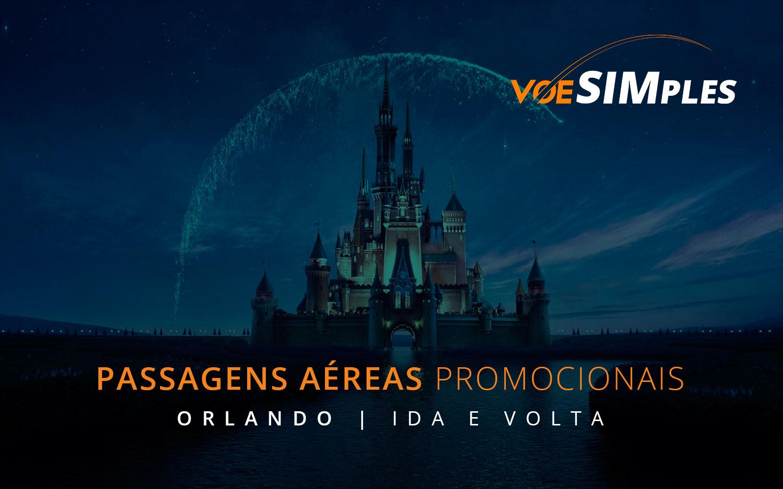 Passagens aéreas promocionais para Orlando nos Estados Unidos