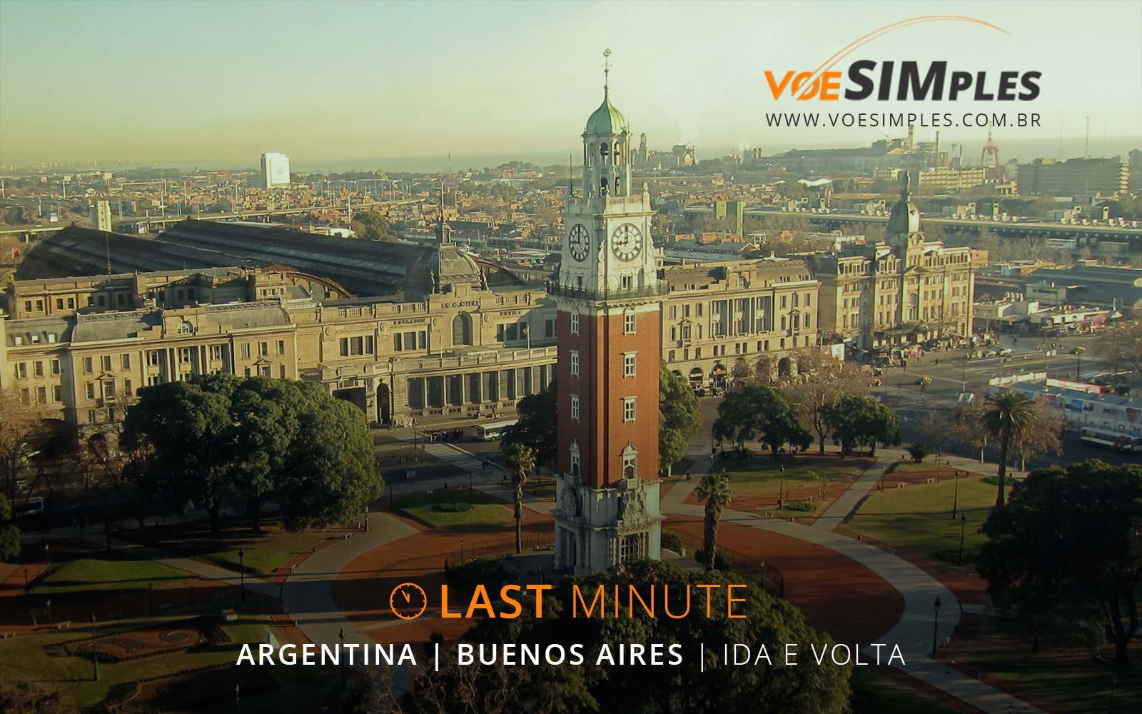 Oferta relâmpago! Passagens aéreas baratas de São Paulo para Buenos Aires: ida e volta a partir de R$ 363,00 para voar hoje!