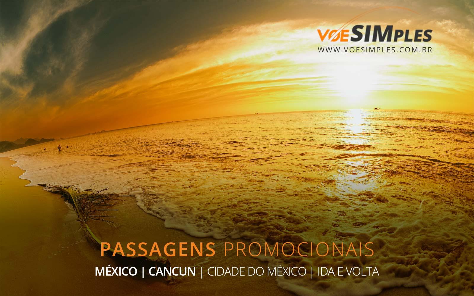Passagens aéreas baratas para Cancun e Cidade do México