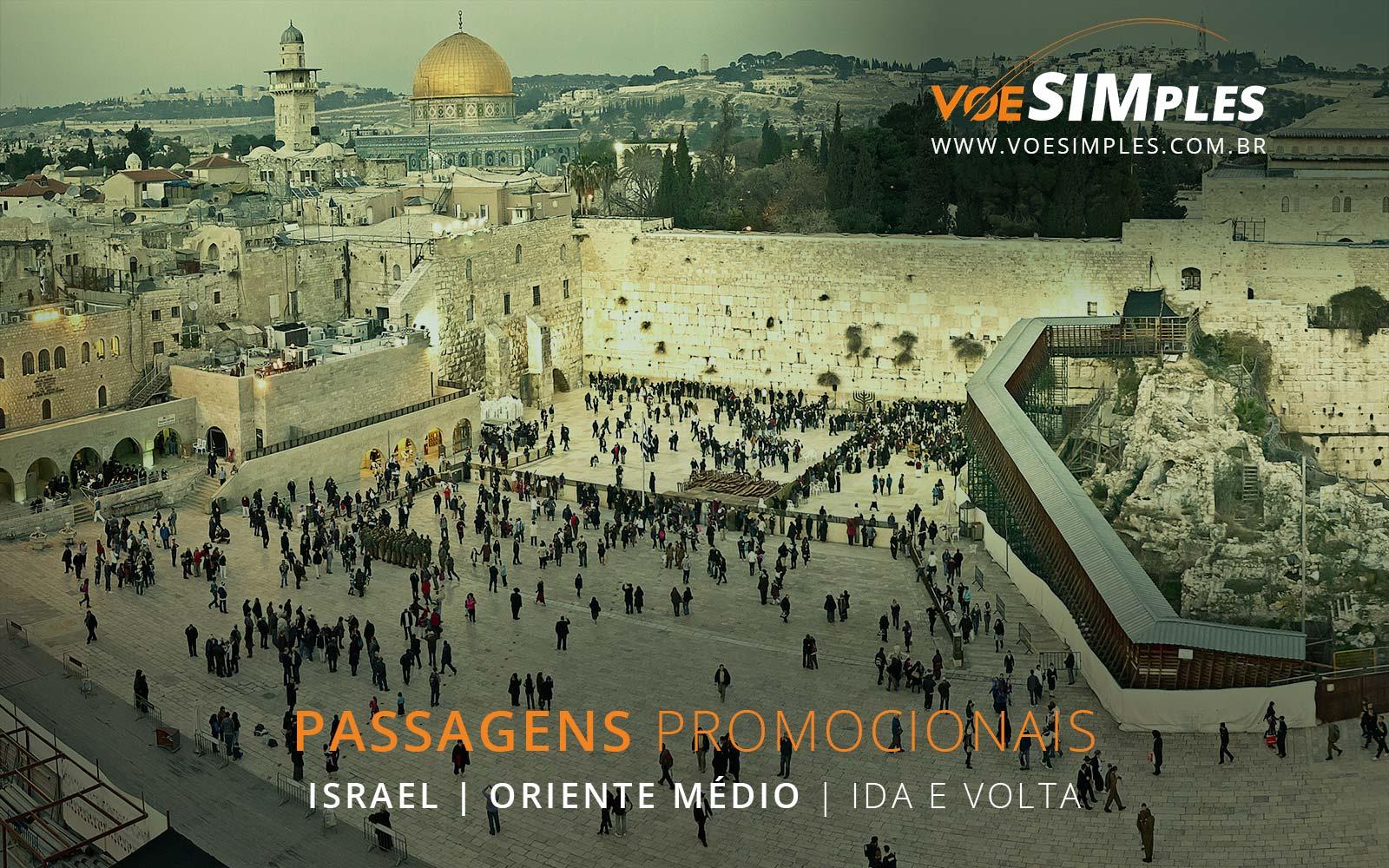 Promoção de passagens aéreas para Israel