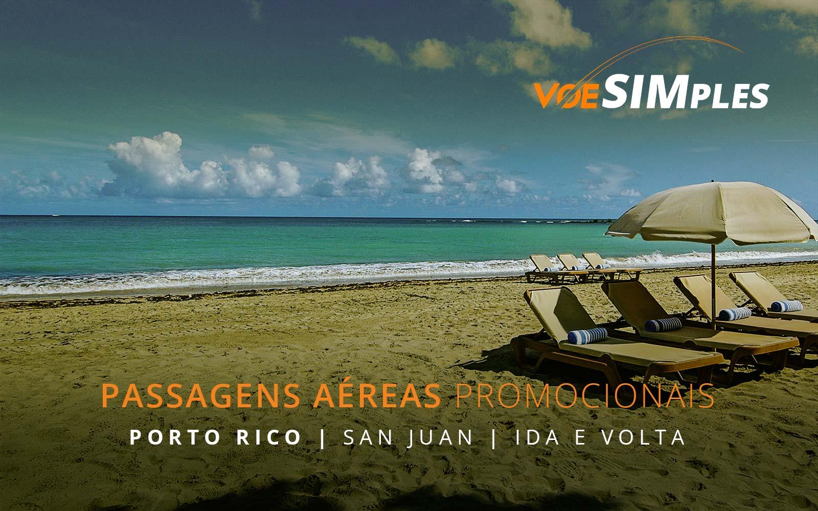 Passagens aéreas promocionais para San Juan em Porto Rico