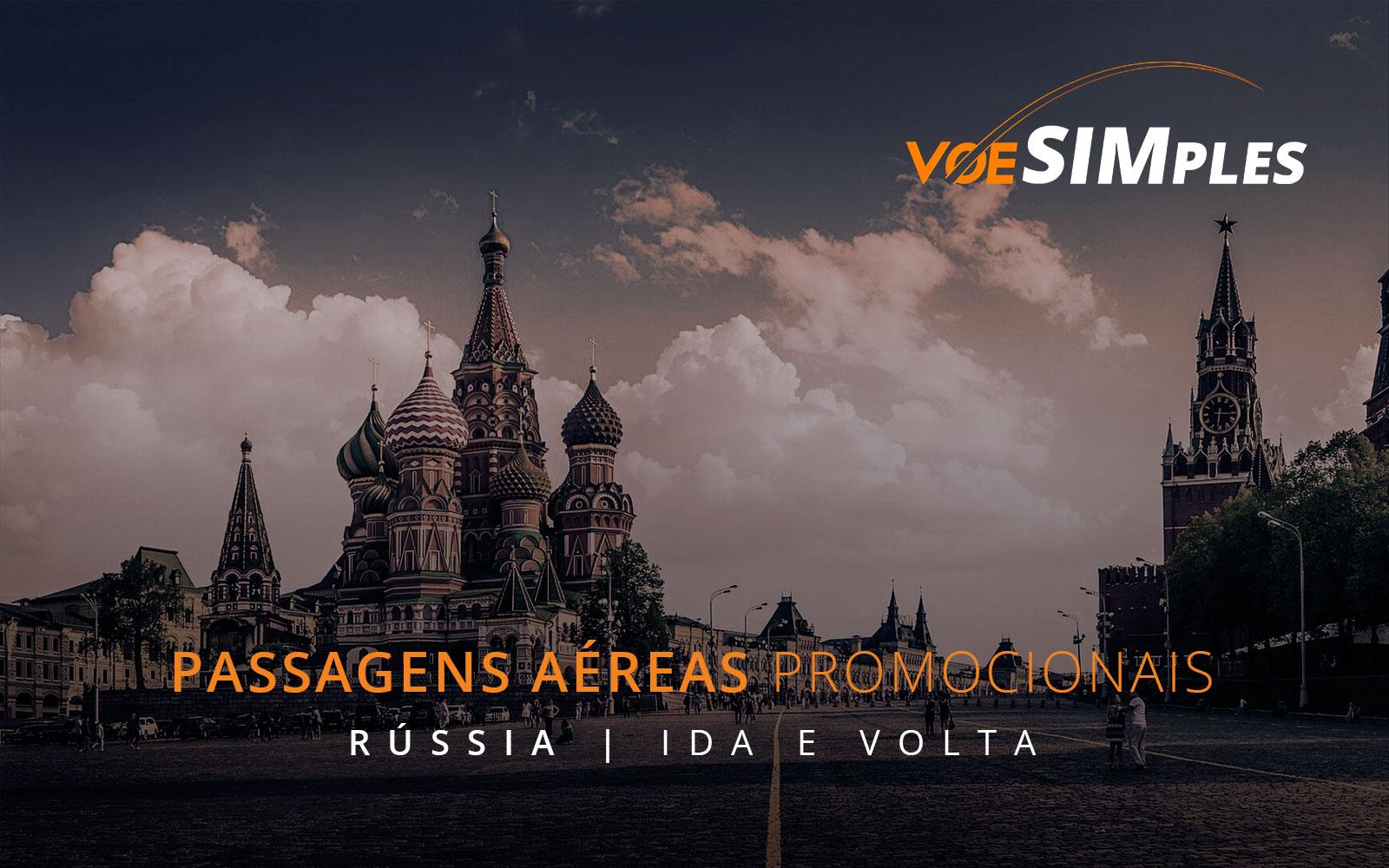 Passagens aéreas promocionais para a Rússia