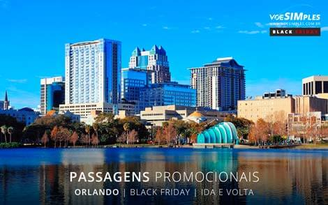 Passagens aéreas promocionais para a Black Friday em Orlando nos Estados Unidos