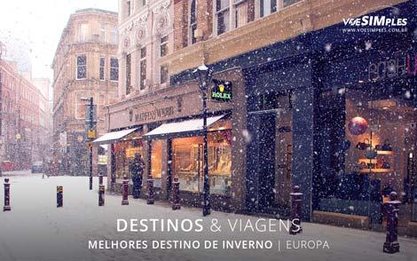 melhores destinos de inverno na Europa
