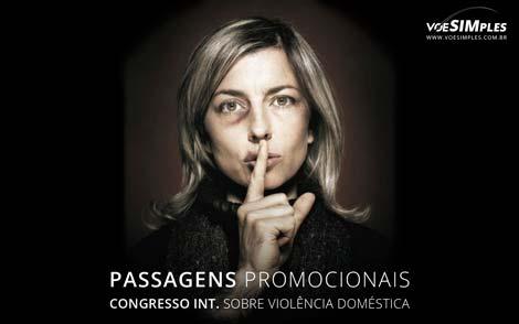 Passagem aérea para o Congresso Internacional Sobre Violência Doméstica