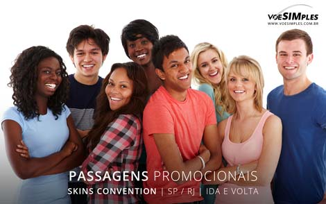 Passagem aérea para a Skins Convention