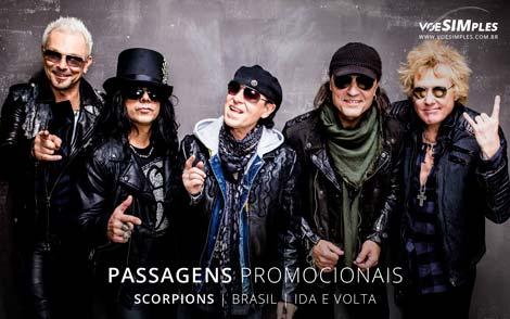 Passagem aérea para o Show Scorpions