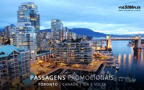 Passagens aéreas promocionais para Toronto