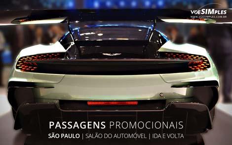 Passagens aéreas promocionais para o Salão do Automóvel