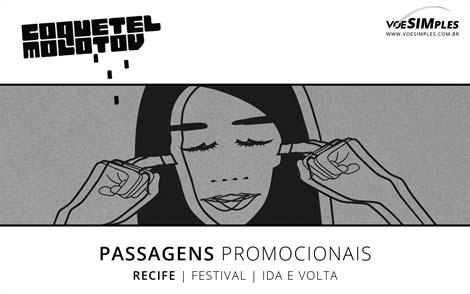 Passagens aéreas promocionais para o Festival de Música Coquetel Molotov