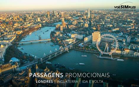 Passagens promocionais para Londres