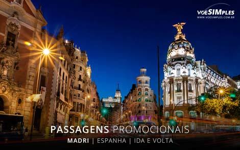 Passagens aéreas promocionais para Madri