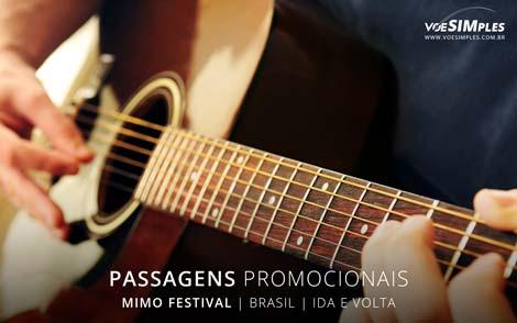 Passagens aéreas para o Mimo Festival Brasil
