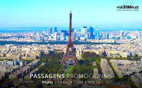 Passagens aéreas promocionais para Paris