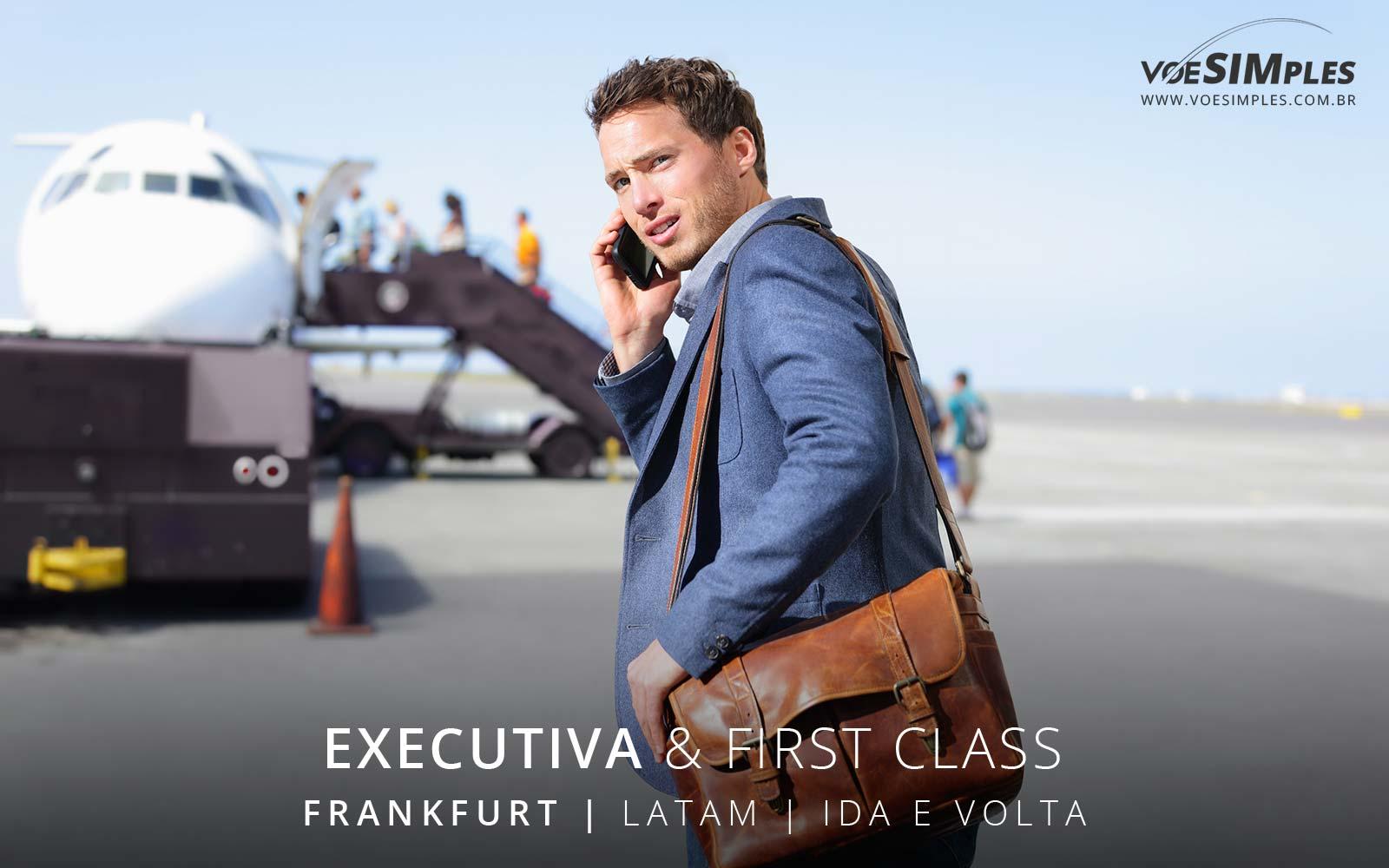 Passagem aérea Executiva Latam para Frankfurt
