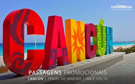 Passagem aérea promoção de férias janeiro para Cancun