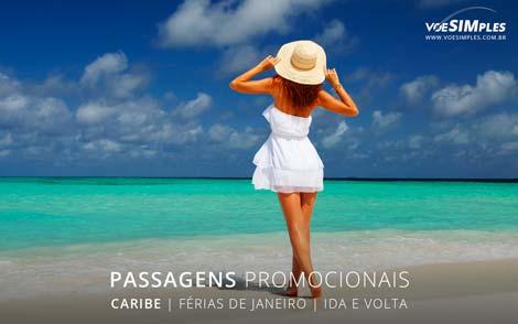 Passagens aéreas para feriado de férias de janeiro 2017 para o Caribe