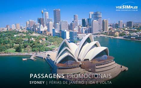 Preços de passagem aérea para férias de verão 2017 para Sydney