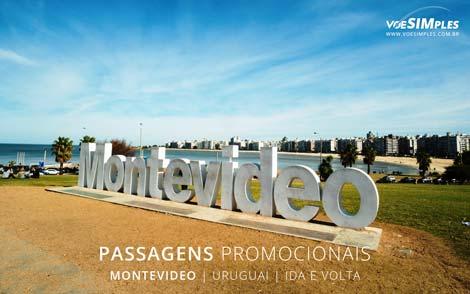 Passagem aérea para Montevidéu