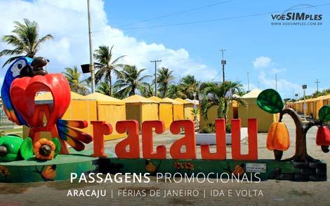 passagens aéreas relâmpago de férias de janeiro em Aracajú