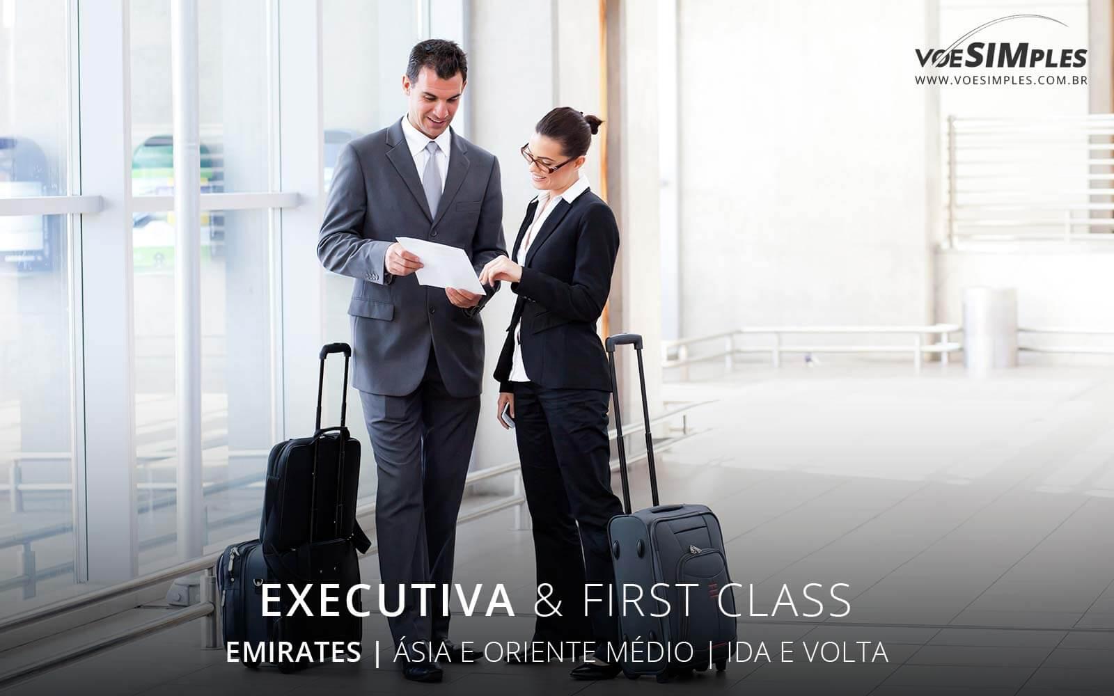 passagem aérea classe executiva Emirates