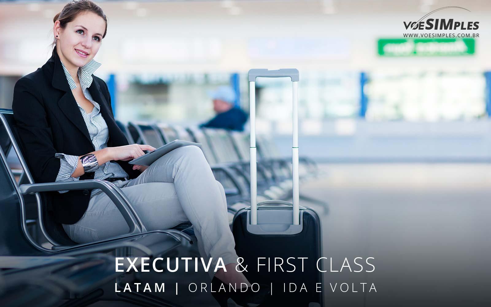 Passagem aérea Executiva Latam para Orlando