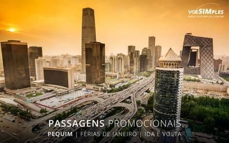 Preços de passagens aéreas para turismo em janeiro 2017 para Pequim