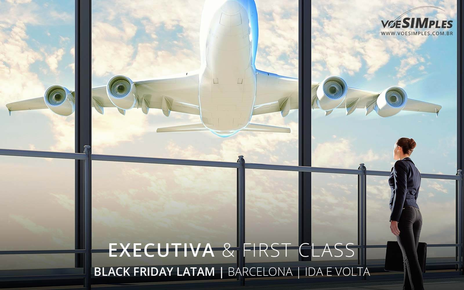 Passagem aérea Executiva Latam Black Friday