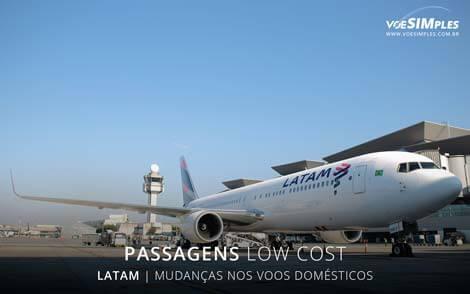 Mudanças nos voos da Latam