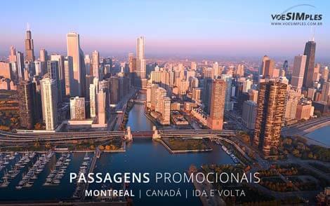 Passagem aérea para Montreal