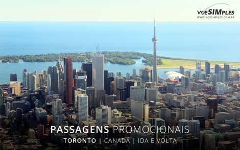 Passagem aérea para Toronto