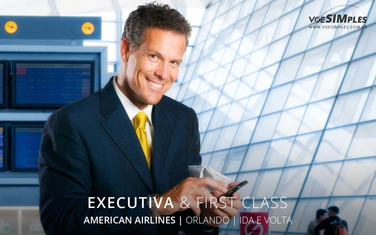 Passagem aérea executiva American Airlines para Orlando