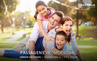 Passagem aérea para lugares sossegados na semana santa 2017