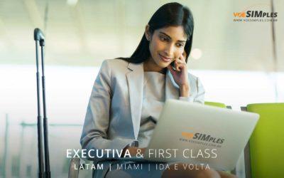 Passagem aérea executiva Latam Miami