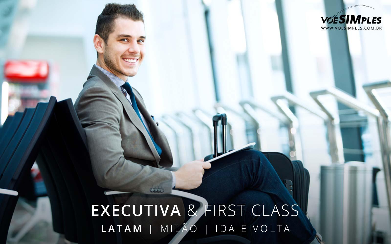 Passagem aérea executiva Latam para Milão