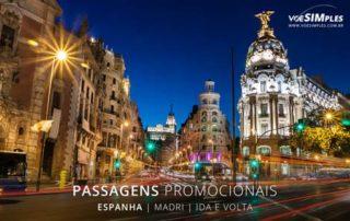 passagem aérea Madri