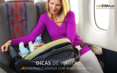 bebês em aviões