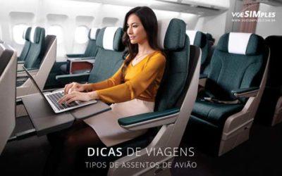 tipos de assentos de avião
